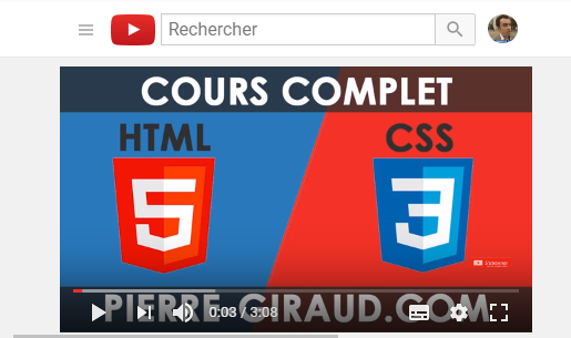 video youtube sur le css